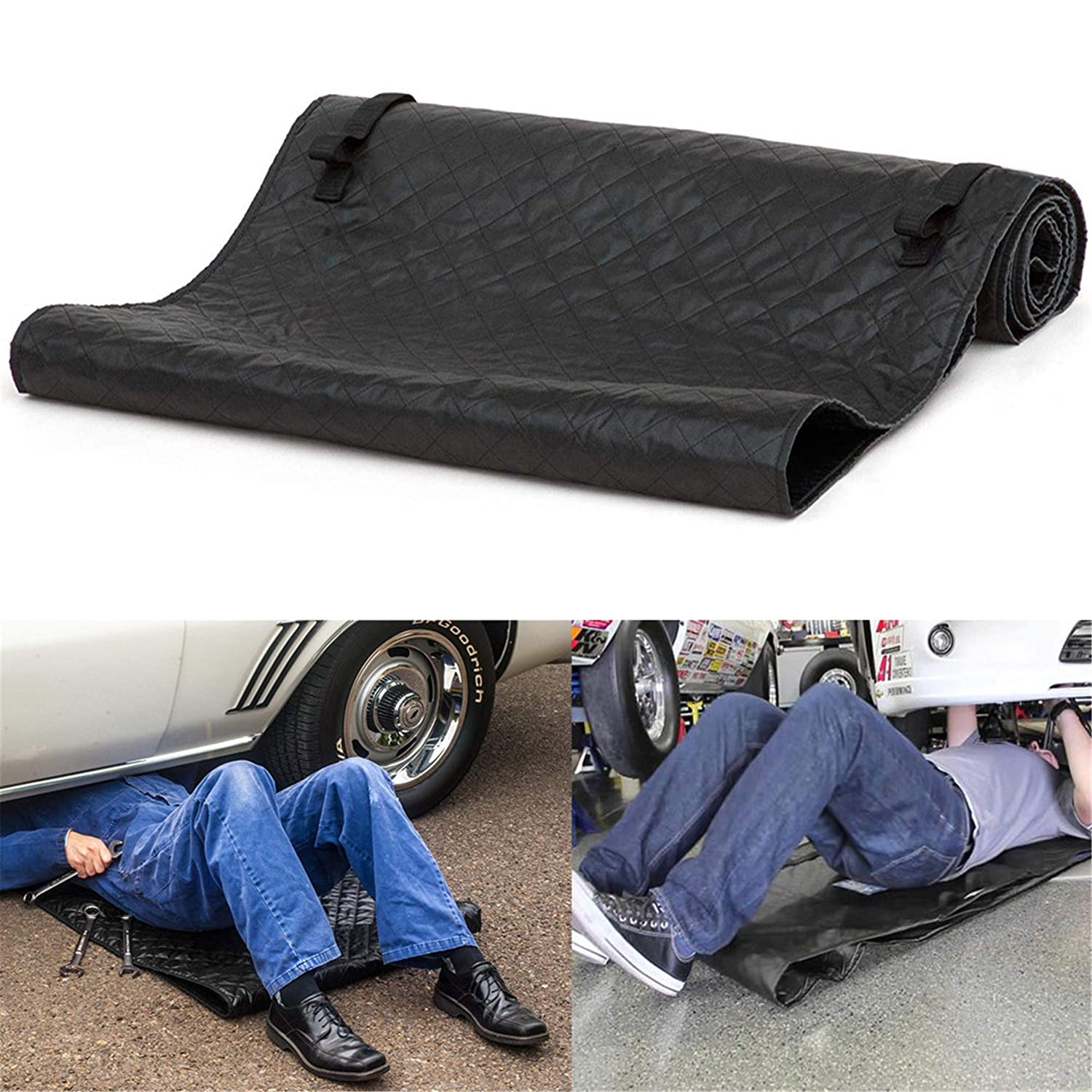 happy event Schwarzer Automobil Kriecher | Autofussmatte | Magisch Kriecher Rollendes Pad Für die Arbeit am Boden | Magic Creeper Pad Black Automotive Creeper Rolling Pad for Working on The Ground