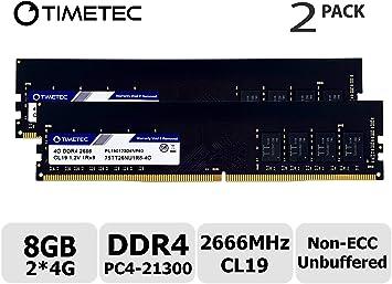 8GB KIT of 2x 4GB DDR4 2666MHz PC4-21300 288 pin DESKTOP Memory Non ECC 2666 RAM