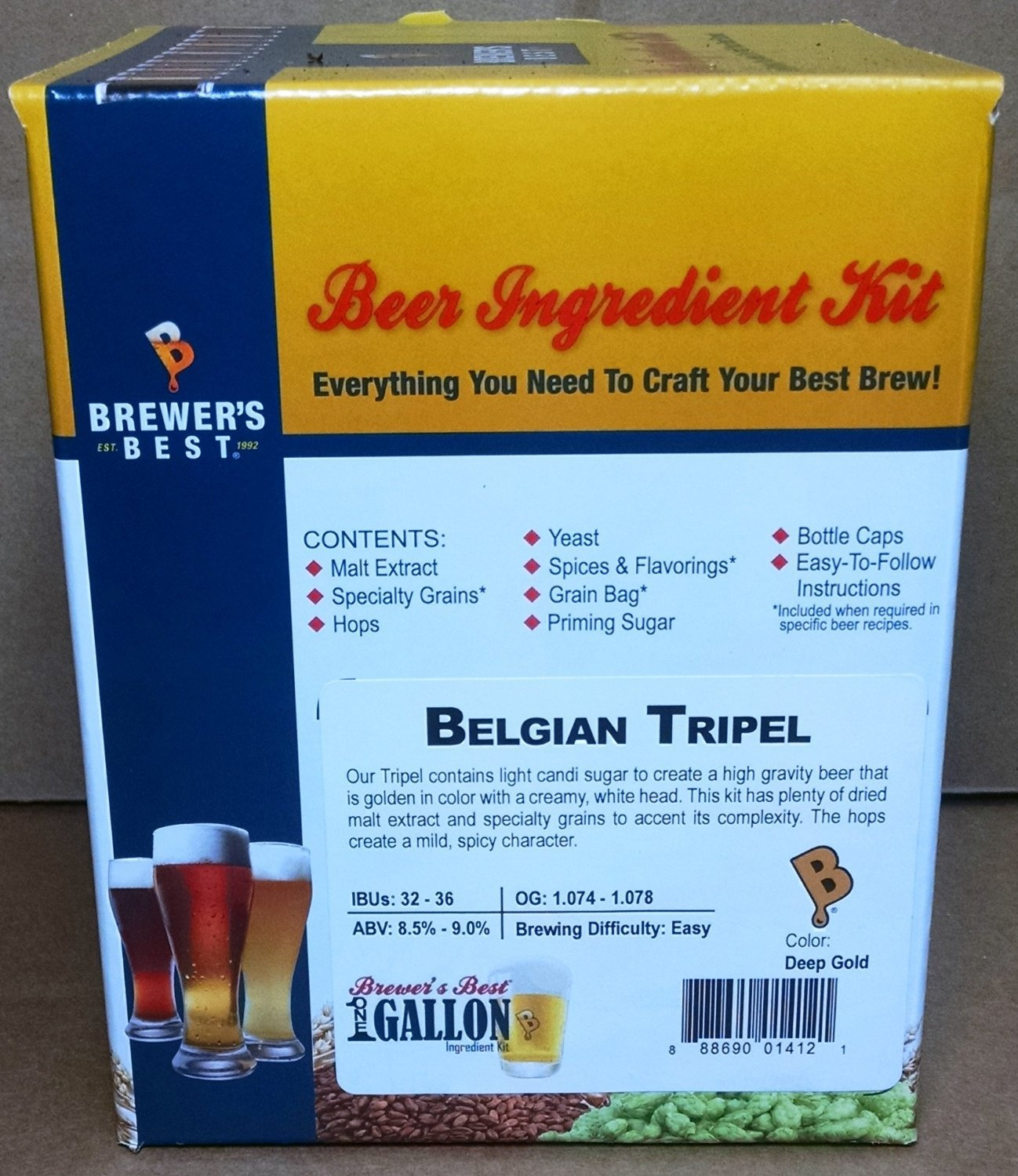 Brewer's Best One Gallon Home Brew Beer Ingredient Kit (Belgian Tripel)