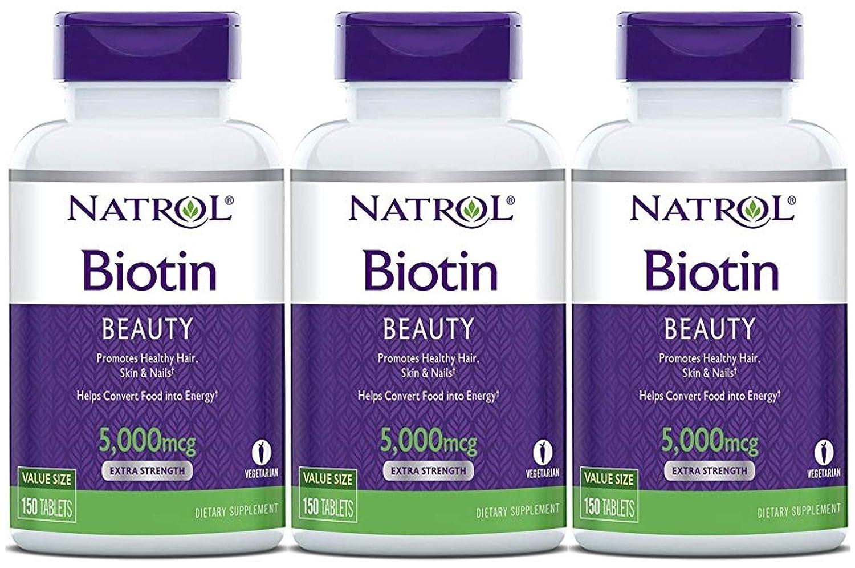 Natrol Biotin Maximum Strength Tablets 10000mcg 100 10000 Mcg Count Health Personal Care