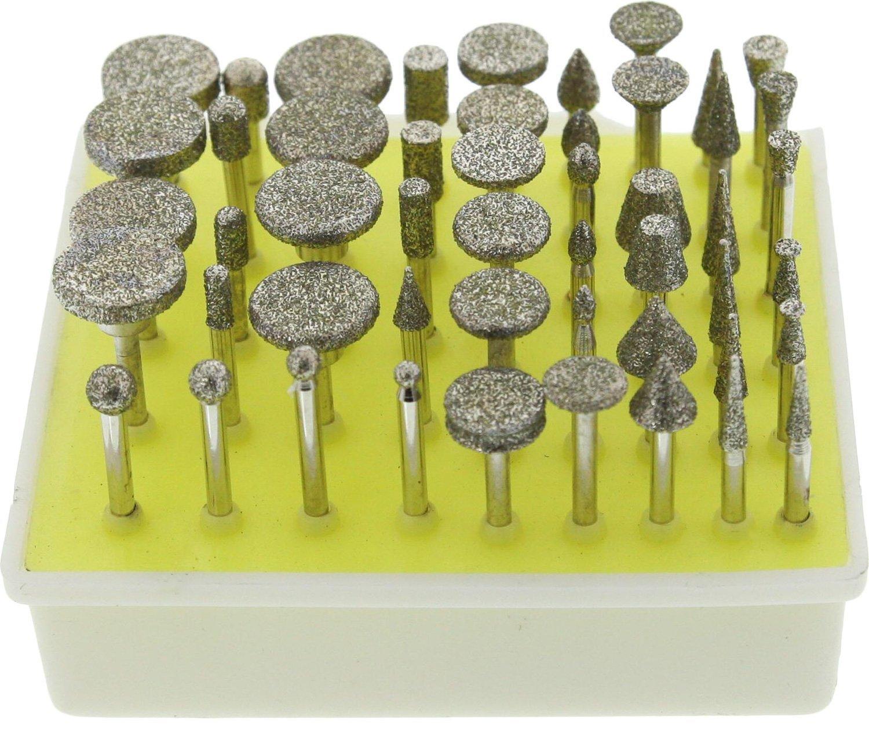 50-Piece SE 8235DD4 Diamond Burr Set 46 Grit