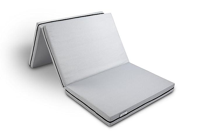 Hilding Sweden resor Plegable de/Colchón Plegable (H2 - H3), para Todos los Tipos de Dormir, 90 x 190 cm, Funda Lavable, Cama de Invitados, Cama de Viaje: ...