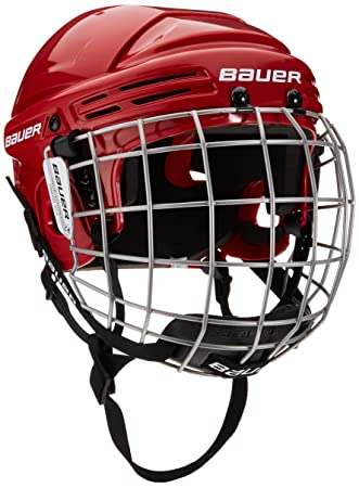 c9ee90cfab5 Bauer Children s Helmet Combo with Grid Junior 2100 Red red Size One Size