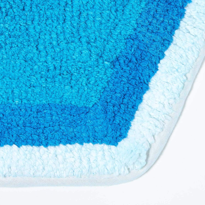 100/% Cotton Washable Tufted Blue Elephant Rug 60 x 85 cm Bath Mat or Childrens Rug HOMESCAPES