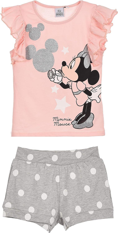 Minnie Mouse Bambina Maglietta e Pantaloncini