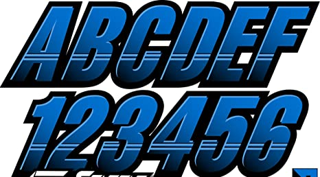 Yamaha Blue Custom Boat Registration Numbers Decals Vinyl Lettering Stickers