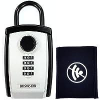 Bosvision [Caja fuerte para llaves] [Caja de Seguridad para llaves] [Caja de llaves] [Candado de combinación] [Portátil…