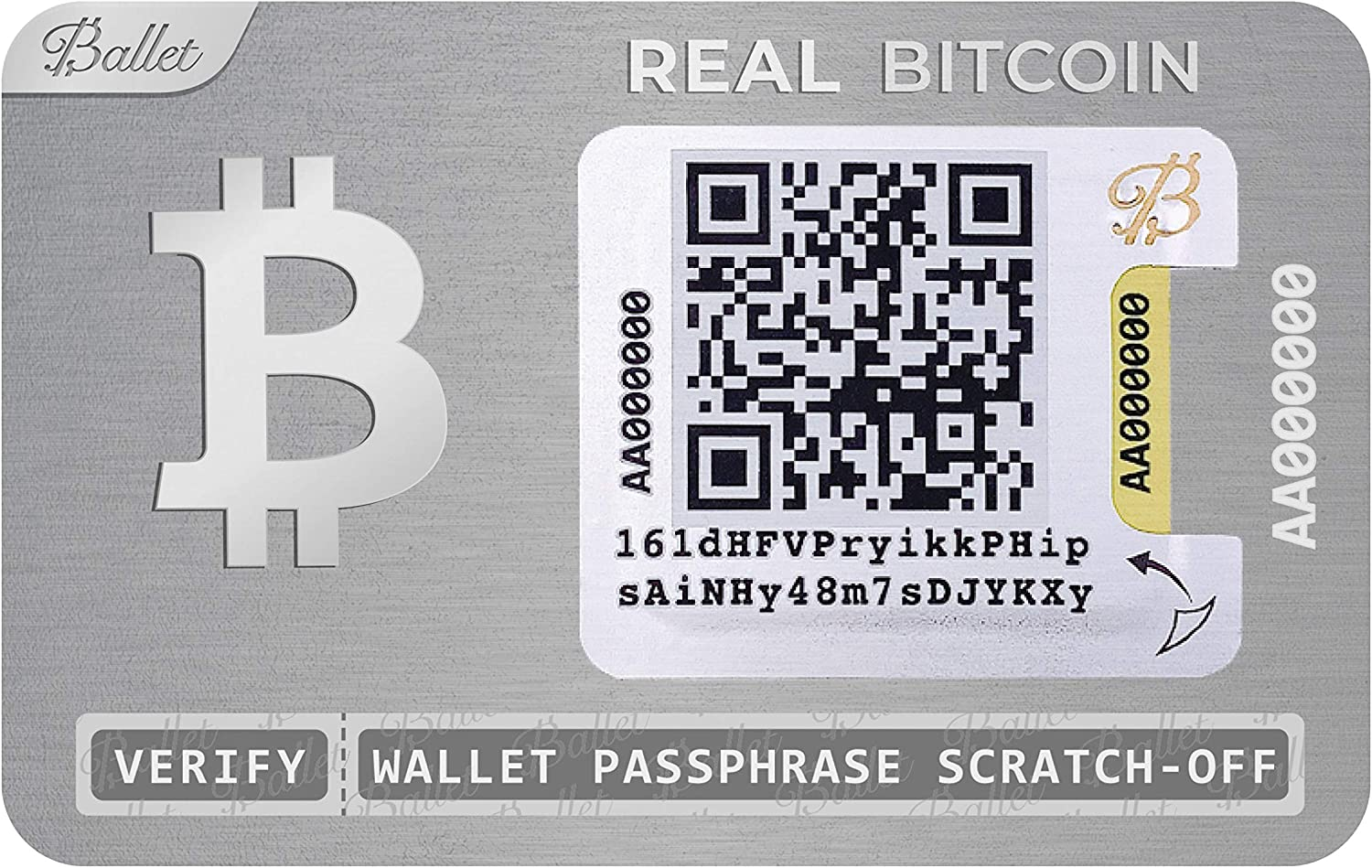 Ballet Real Bitcoin Cryptocurrency Physisches Wallet Elektronik