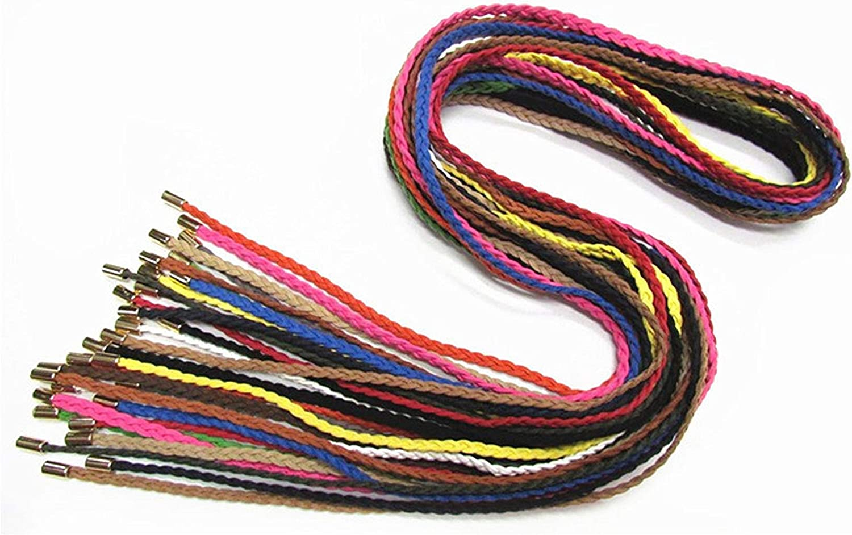 woman dresses thin Weave belt female Simple leather braided belt Womens femme