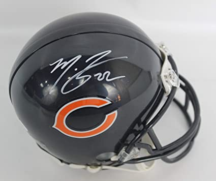 eeb166122f5 Amazon.com  Matt Forte Autographed Chicago Bears Navy Mini Helmet w ...
