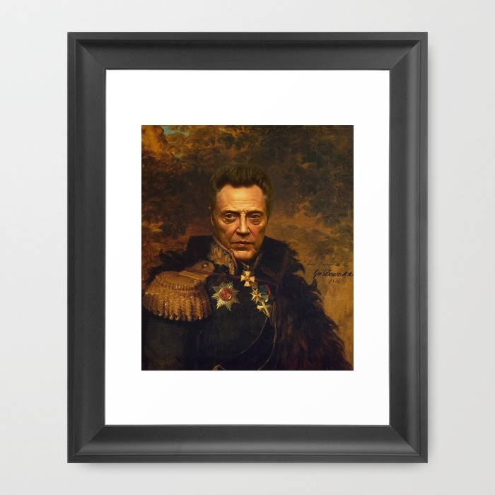 Christopher Walken - replaceface Framed Art Print by Replaceface | Society6