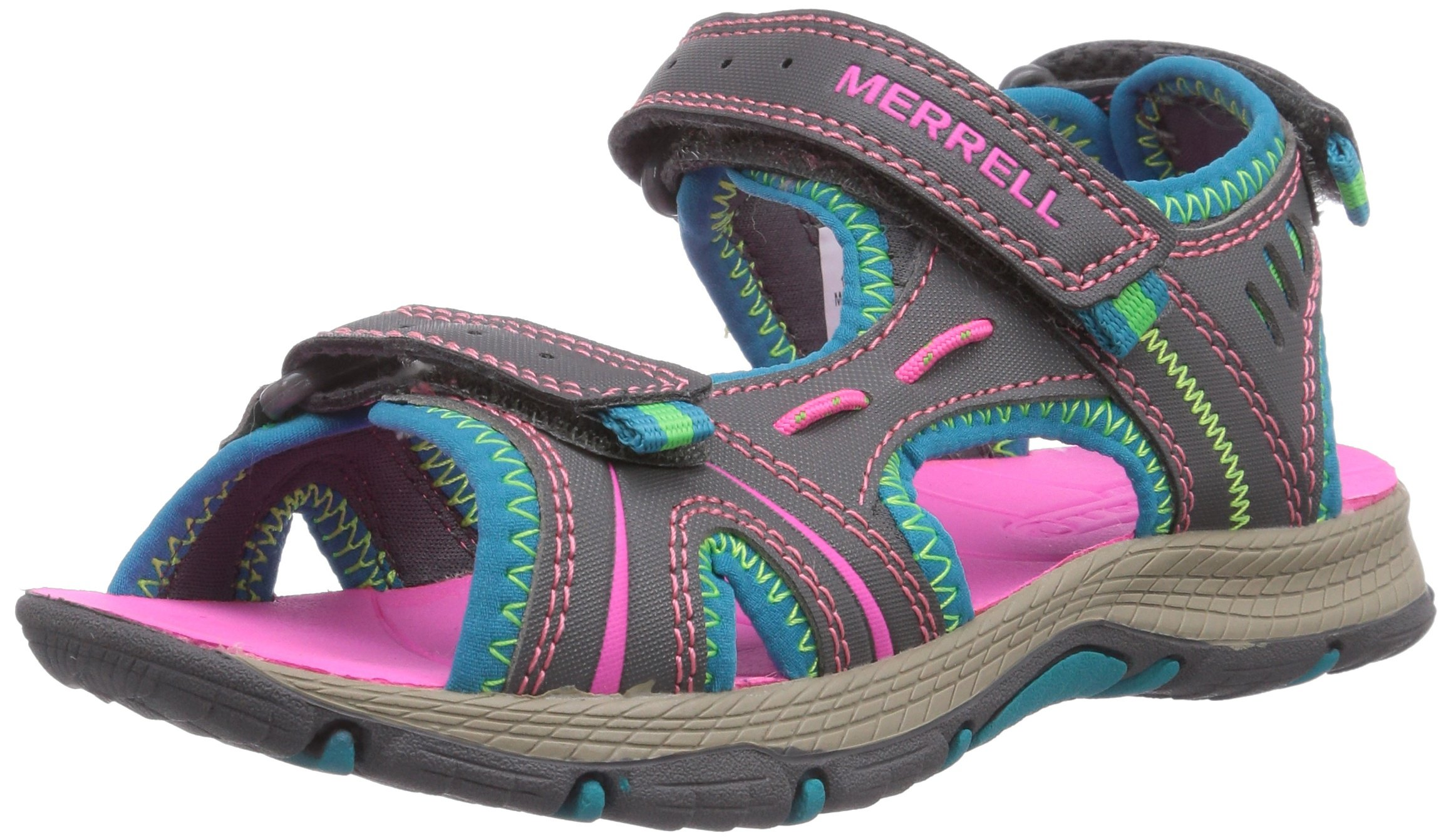 Merrell Panther Athletic Water Sandal , Blue/Pink/Green, 11 M US Little Kid by Merrell (Image #1)