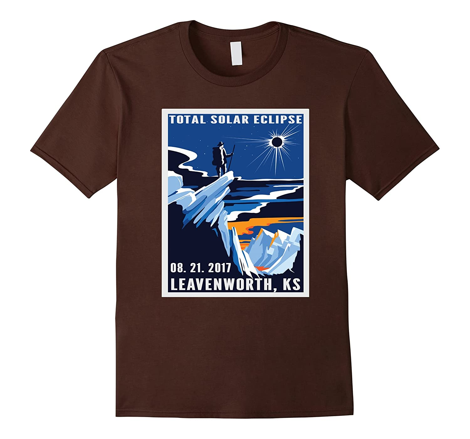Vintage Leavenworth, Kansas Eclipse August 2017 shirt-Art