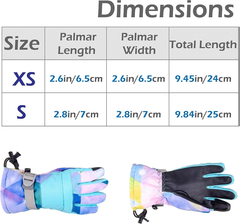 Azarxis Guantes de Esqu/í Ni/ño Invierno Pantalla T/áctil Impermeable Guantes T/émicos para Snowboard Ciclimo Ni/ño de 7-13 A/ños