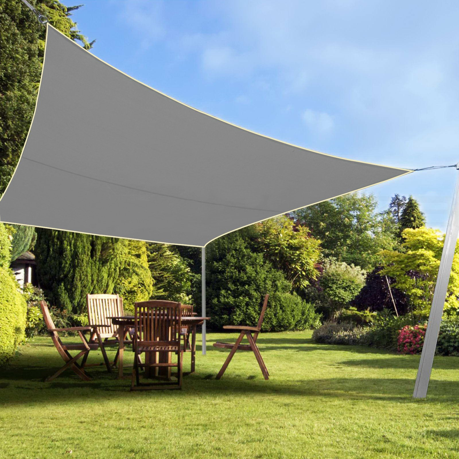 OriginA Patio Shade Panel 10x12ft, Grey, Ready-tie up Ribbon for Pergola/Greenhouses/Carport/Porch