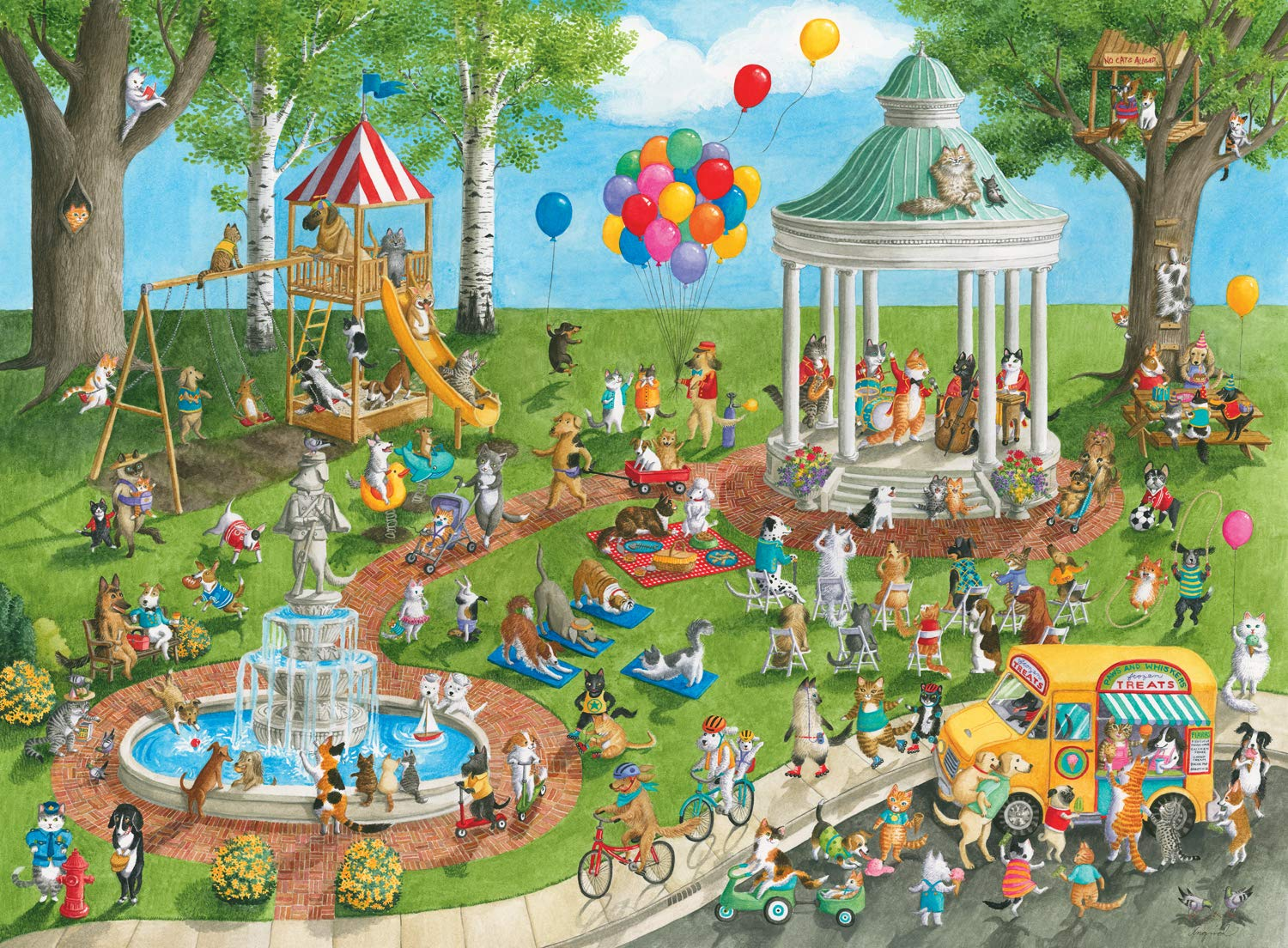 Ravensburger Pet Park - 300 Piece Jigsaw Puzzle for Kids – Every Piece is Unique, Pieces Fit Together Perfectly