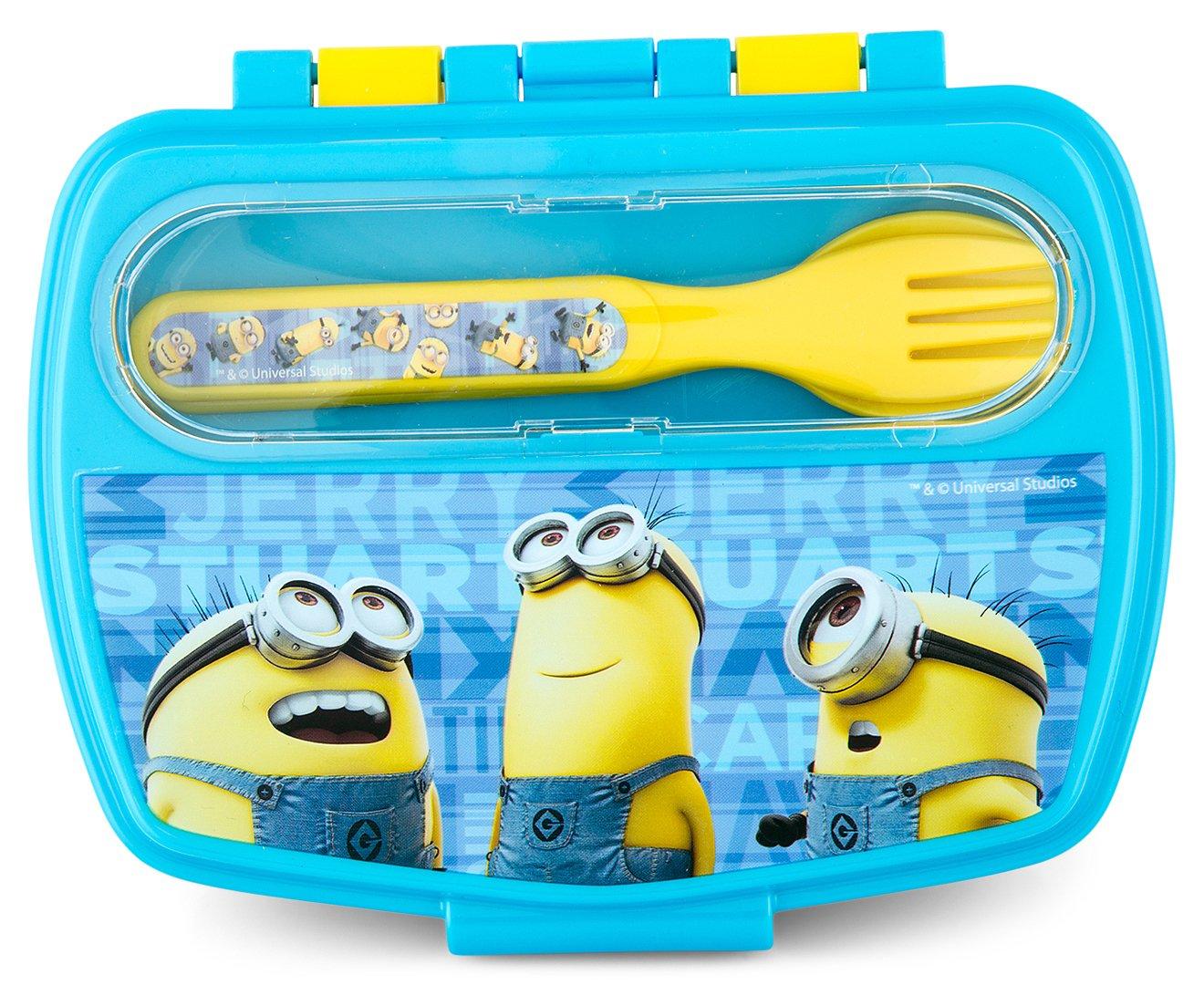 Boyz Toys ST438 Sandwich Box with Cutlery - Minions, Multi Boys Toys 89809