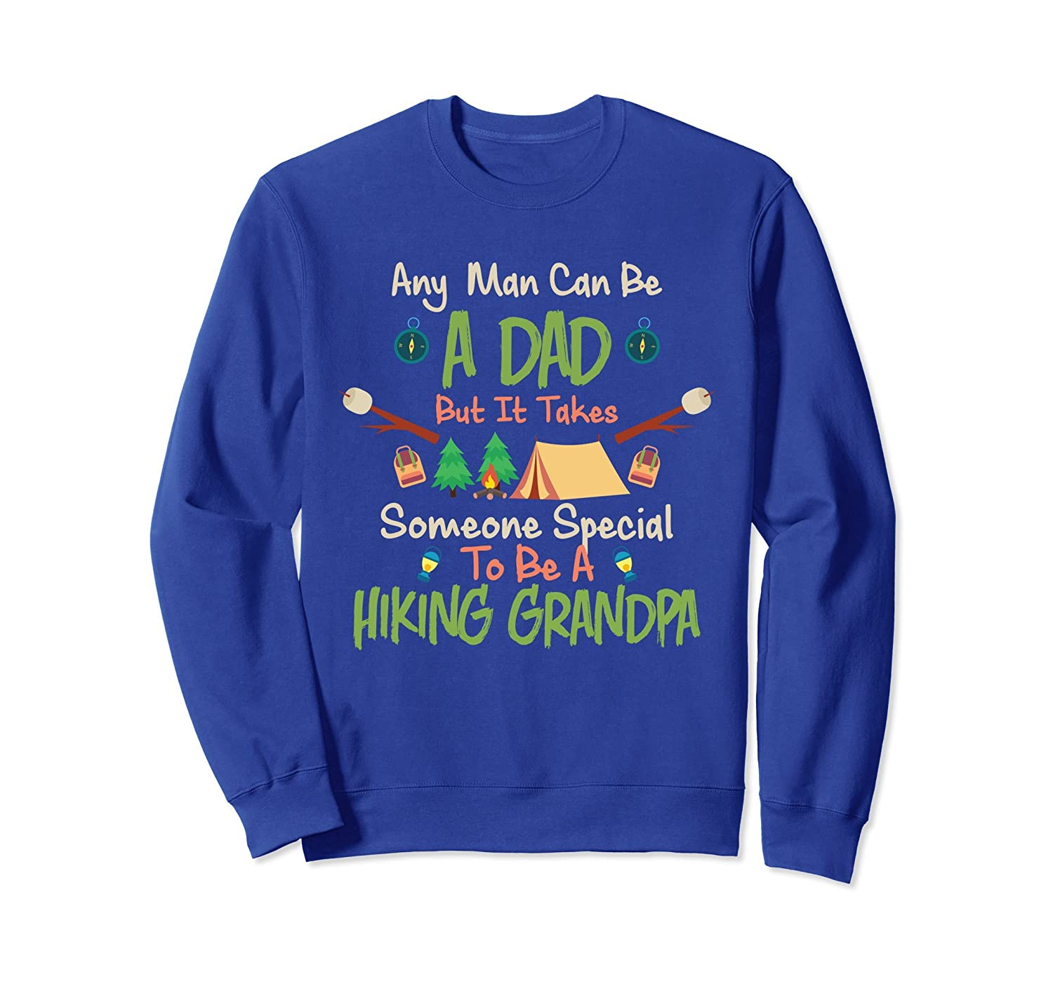 Hiking Dad Sweatshirt for Father Papa Fathers Day-AZP