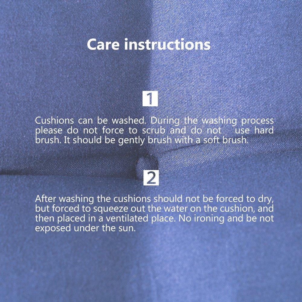 colore Cuscino di ricambio imbottito per sdraio da giardino reclinabile Dightyoho blu navy
