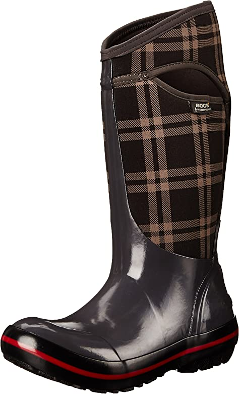 BOGS Womens Plimsoll Plaid Tall Snow Boot