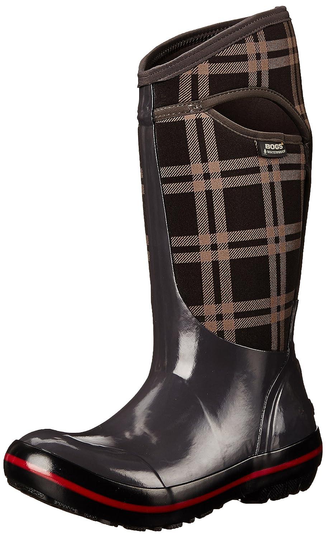 Bogs Women's Plimsoll Plaid Tall Winter Snow Boot B00QMMEX7G 6 B(M) US Dark Gray