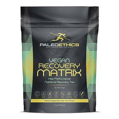 PALEOETHICS PE Sport Vegan Recovery Matrix High Performance Nighttime Recovery Tea Powder