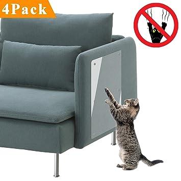 PetIsay Protector de arañazos para Gatos, Barrera disuasoria de arañazos, la Mejor protección contra arañazos o Lesiones en el sofá, Silla, u Otros Muebles ...