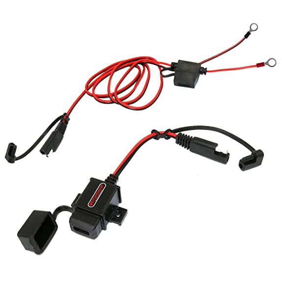 Amazon motopower mp0609aa 31amp waterproof motorcycle usb motopower mp0609aa 31amp waterproof motorcycle usb charger kit sae to usb adapter cable phone tablet keyboard keysfo Image collections