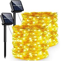 Guirnaldas Luces Exterior Solar, PVC Led Solares Exteriores Jardin 240 LED Y 8 Modos Cadena de Luces Ip65-Impermeabile…