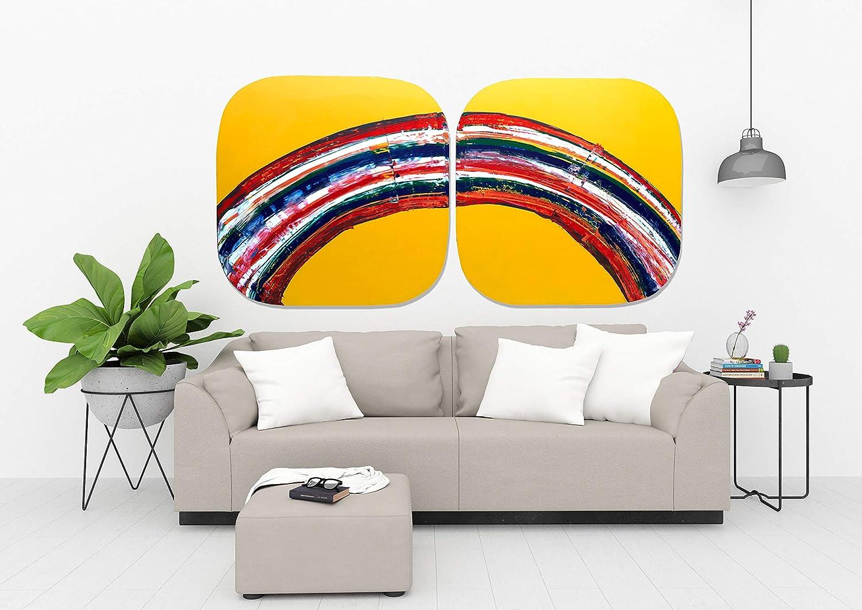 Cuadro DUO arco iris energia abstracta decoracion ...