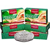 Vaadi Herbals Elbow Foot Knee Scrub Soap with Almond and Walnut Scrub, 75g (Pack of 6)
