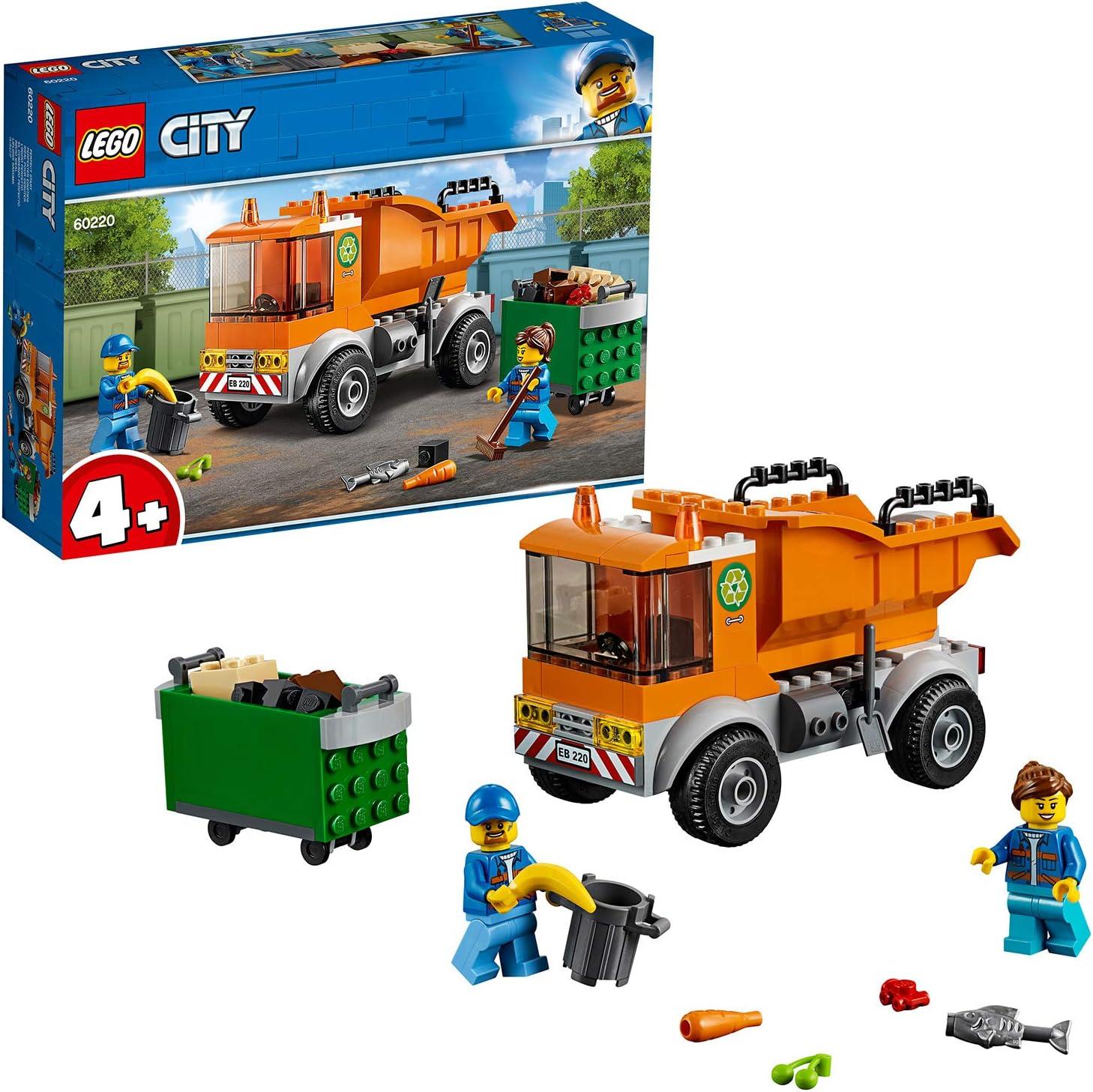 LEGO City - Great Vehicles Camión de La Basura, Juguete Creativo de Construcción para Niños y Niñas con Accesorios Y Detalles (60220)
