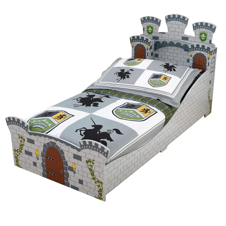 KidKraft Cama infantil de madera estilo Castillo medieval