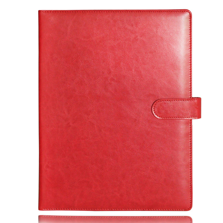 con chiusura a clip; per contenere fogli; ideale per: uffici conferenze come cartella per prendere appunti o per contenere documenti legali; colore: rosso 25X32cm Red Cartella portablocco Laconile A4 in similpelle