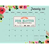 2018 Floral Monthly Desk Blotter