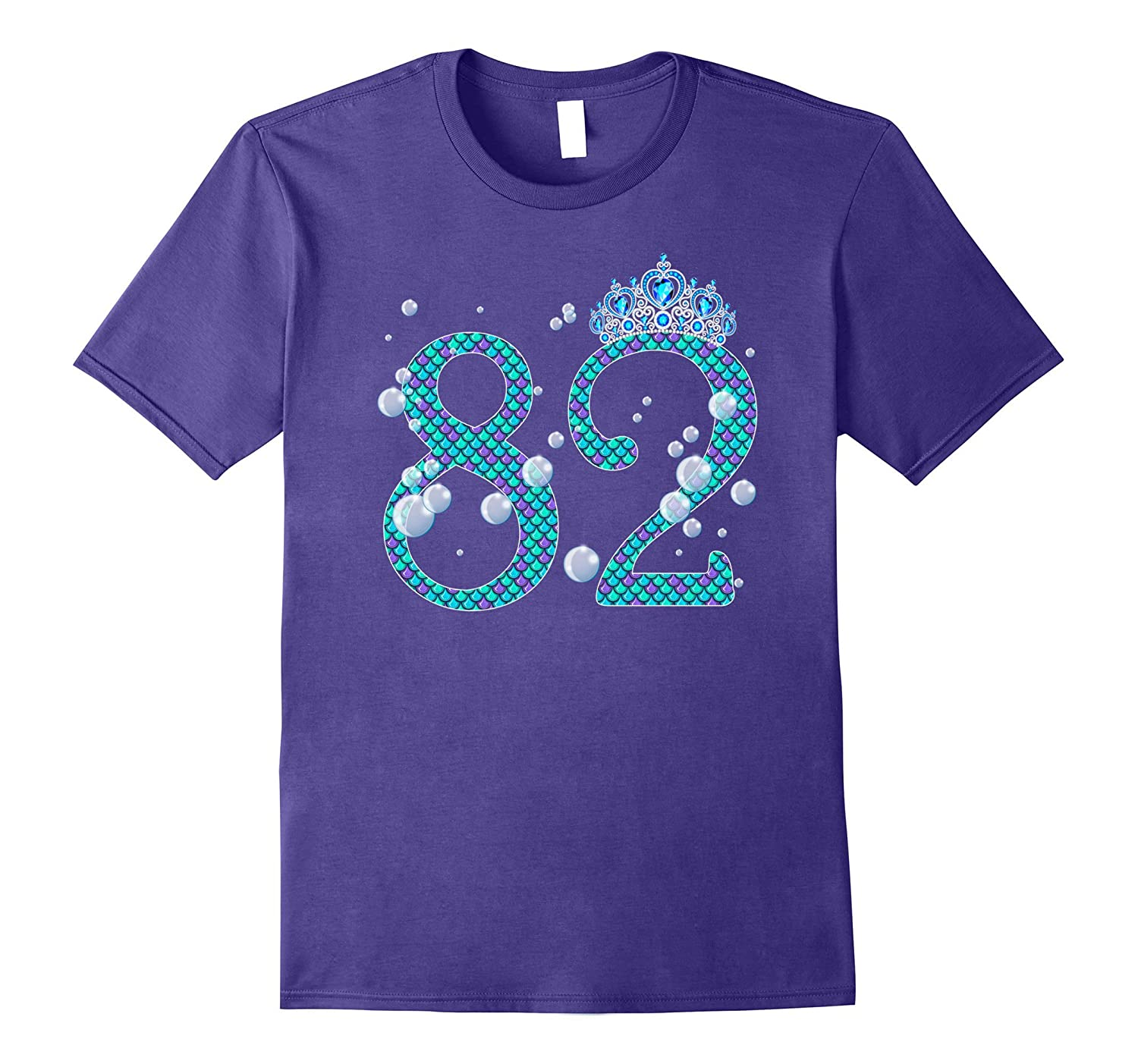 82 Year Old Shirt Mermaid 82nd Birthday TShirt PL