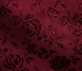 """SATIN FLORAL JACQUARD Gold Fabric 58/"""" wide"""