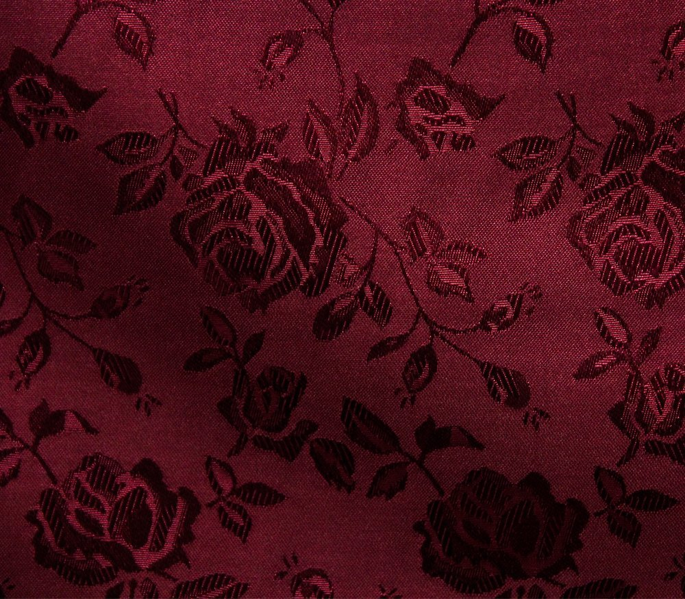 Satin Fabric Floral Jacquard BURGUNDY / 58 Wide / Sold by the Yard by FABRIC EMPIRE   B01FUZN4TS