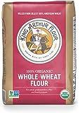 King Arthur Flour 100% Organic Wheat Flour, Whole, 2 Pound (Pack of 12)