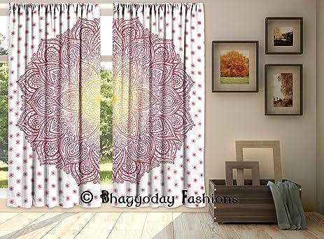 Amazon.com: LOTUS Ombre Mandala Curtian Tapestry Door Curtains ...