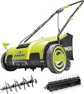 Sun Joe AJ798E Electric Lawn Dethatcher, 13 inch, 11.5 Amp, AirBoost Technology, Green