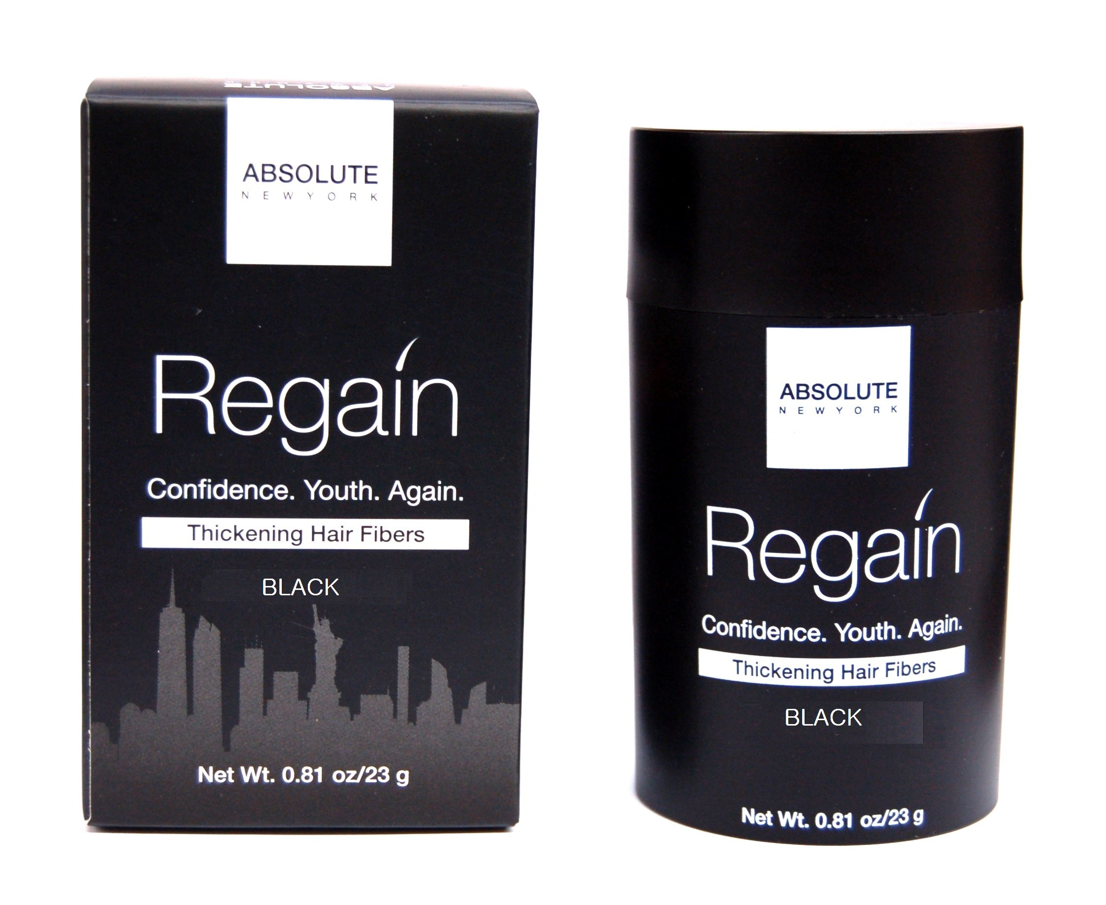 Regain Hair Fibers by Absolute 0.81oz / 23g (Black)
