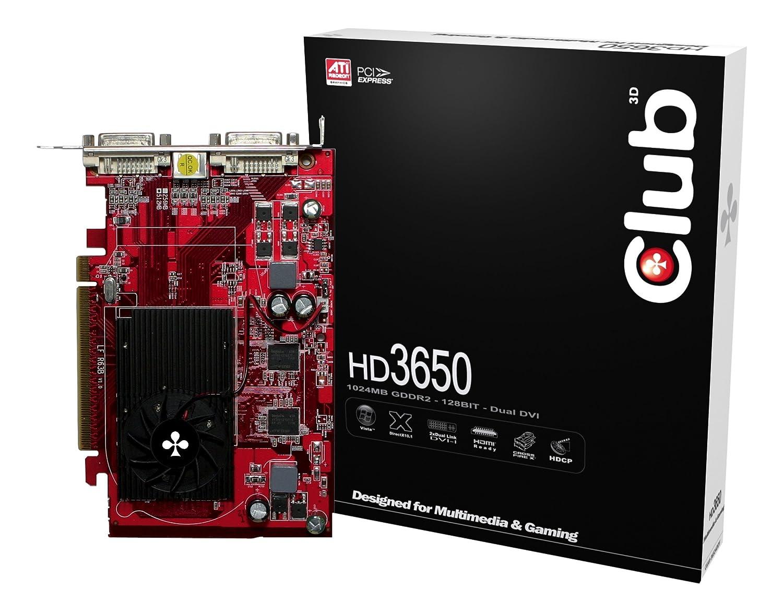 CLUB3D HD 3650 1024MB 1 GB GDDR2 - Tarjeta gráfica (1 GB ...