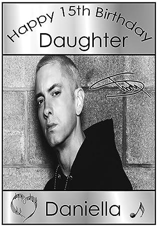 Personalised Eminem Birthday Card Amazon Office Products
