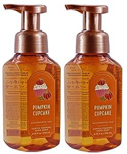 White Barn Bath and Body Works Pumpkin Cupcake 8.75 ounce (2 Pack) Gentle Foaming Hand Soap