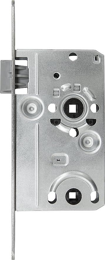 ABUS 208317 - Cerradura empotrable para baño (TKB10, izquierda), color plateado