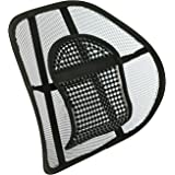 Sentik® Chair Back Support Seat Sit Tight Right with Elasticated Positioning Strap and Mesh Lumbar Grill