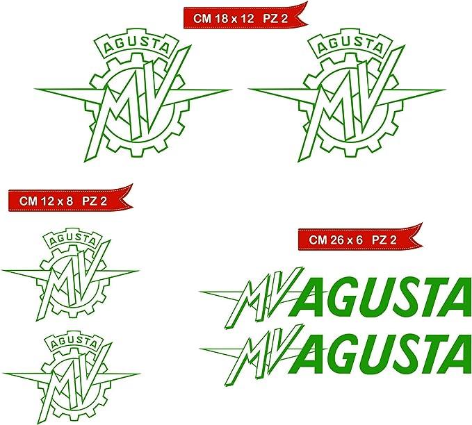 /adesivi-sticker 3d Compatible, Aufkleber Tankpad Tankpad geharzt Effekt 3d/ MV Agusta Brutale Tank Pad Mod d-top 2/for free 9/x 18/cm,,