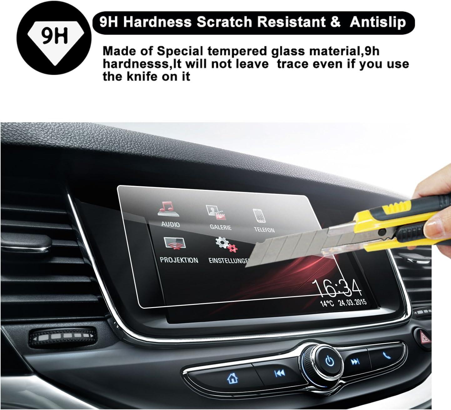 RUIYA Geh/ärtetem Glas Displayschutzfolie f/ür 2017 2018 Opel Crossland X Navi 900 IntelliLink Navigations System unsichtbare und transparente Film Anti-Kratz Crystal Clear HD Displayschutz 8 Zoll