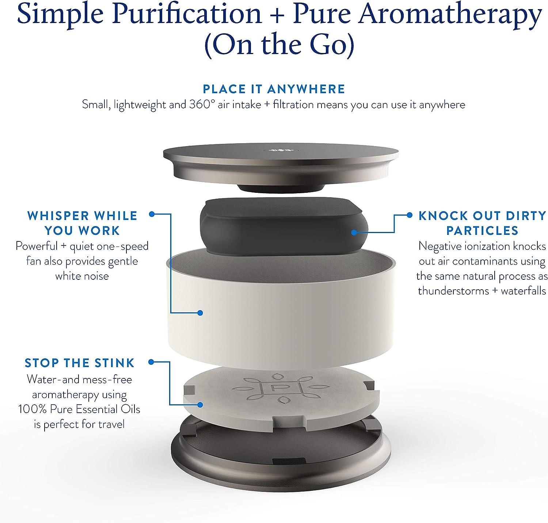 El purificador de Aire portátil Pure Company es Ligero, súper silencioso y diseñado para Que no necesite Herramientas, Mantenimiento o filtros.: Amazon.es: Hogar